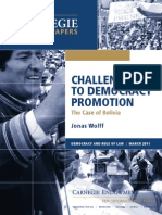 Challenges to Democracy Promotion—The Case of Bolivia