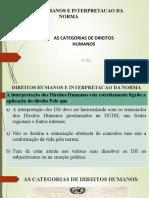 As categorias de direitos humanos