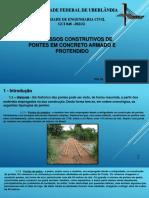 PROCESSOS CONSTRUTIVOS DE PONTES EM CONCRETO ARMADO E PROTENDIDO