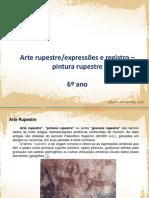 Arte rupestre_expressões e registro pintura rupestre 6º ano