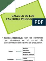 Calculo de factores productivos