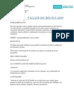 TALLER DE RECICLADO