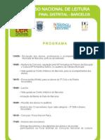 Concurso Nacional de Leitura - Fase Distrital Programa[1]