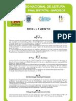 Concurso Nacional de Leitura -  Final Distrital Regulamento[1]