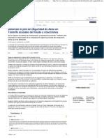 Detenido El Jefe de Seguridad de Aena en Tenerife Acusado de Fraude y Coacciones en CADENASER