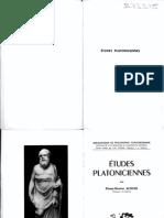(Bibliothèque de philosophie contemporaine. Histoire de la philosophie et philosophie générale.) Pierre Maxime Schuhl - Études platoniciennes-Presses universitaires de France (1960)