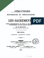 Instructions historiques et théologiques sur les sacrements (t. 2) - M. Boucarut