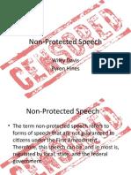 Unprotected Speech
