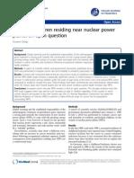 Cancer in Children Residing Near Nuclear Power Plant an Open Debate-1