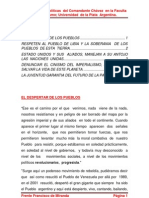 Orientaciones políticas  del Comandante Chávez  en la Faculta de periodismo; Universidad  de la Plata  Argentina.