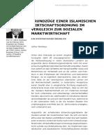 Grundzüge einer islamischen Wirtschaftsordnung im Vergleich zur Sozialen Marktwirtschaft – Ein systematischer Überblick (Pdf)