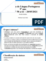 Aula 58 a 61 - 9º Ano - Língua Portuguesa - Lucas Faria