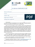 Formular FSE SPIRU HARET aderare Samsung Club