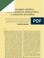 La iglesia catolica entre transicion democrática y tentación teocrática