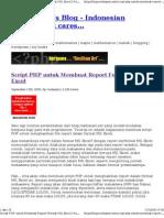 Script PHP Untuk Membuat Report Format MS Excel