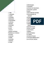 Nomes da Apoteose