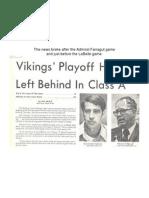 1974 BVHS Football - Reclassification News