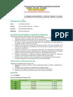 Financiamiento y Cronograma-Sistemas Integrados de Gestión