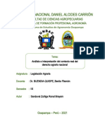 Analisis e interpretacion del Derecho agrario nacional