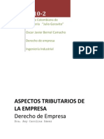 ASPECTOS TRIBUTARIOS DE LA EMPRESA FINAL