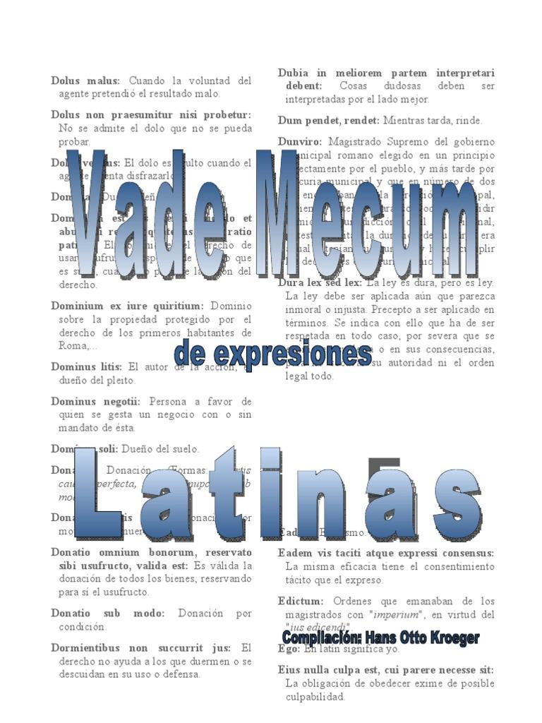 Vademecum Latin