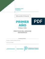 2020 - PDL Y Matemática - 1º Grado -PBA -Cuaderno 2
