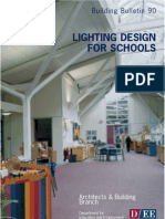 building bulletin 90 lighting design for schools