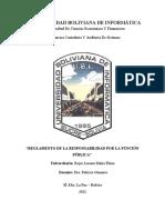 TRABAJO PRACTICO 2 REGLAMENTO DE LA RESPONSABILIDAD POR LA FUNCION PUBLICA