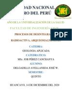 PROCESOS DE DESINTEGRACION RADIOACTIVA, ARQUEOMAGNETISMO