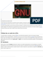 Teoría de funcionamiento de una matriz de diodos LED