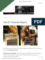 """Lista de """"Transações Mágicas"""" – ABAP Zombie"""