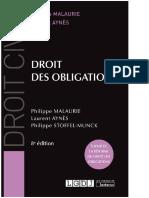 Droit Civil Des Obligations de Philippe Malaurie Et Laurent Aynès 94255