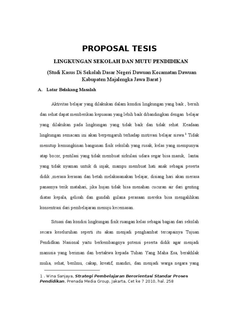 contoh proposal tesis magister komunikasi