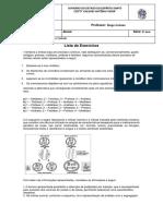Lista de exercicios Divisao Celular (1) - 9º ANO