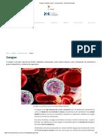 Sangue_ funções, tipos e componentes - Mundo Educação