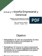 Ética y Filosofía Empresarial y Gerencial