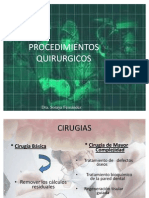 12) PROCEDIMIENTOS QUIRURGICOS