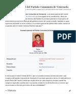 Secretario general del Partido Comunista de Venezuela - Wikipedia, la enciclopedia libre