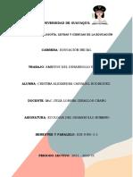 Tarea 1 -Ecologia Del Desarrollo Humano-cristina Carvajal Rodriguez