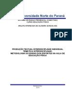 OLHAR PARA TRABALHO EDUCAÇÃO FISICA 4 SEMESTRE