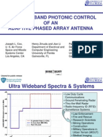 Ultra Wideband Photonic Control of an Adaptive Phased Array Antenna
