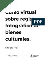 Programa 2021 -  Registro Fotográfico de Bienes Culturales