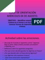 CLASE DE ORIENTACIÓN