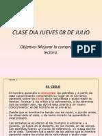 CLASE DIA JUEVES 08 DE JULIO