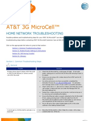 ATT3GMicroCell Troubleshooting | Router (Computing