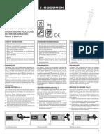 Calibra digital 822 Operating Instructions EN DE FR