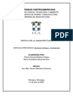 ARTICULO REFLEXIVO - Gestion Urbana-Ambiental