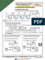 Série d'exercices N°2 - Génie électrique - Compteur à base des circuits intégrés - Bac Technique (2015-2016) Mr Raouafi Abdallah