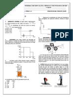 Lista de exercicios 13 - Fisica I Int