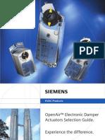Damper actuator Selector Guide (SIEMENS)